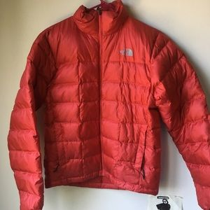 North face down red puffer coat
